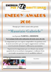ENERGY AWARD Maurizio Gabriele
