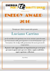 ENERGY AWARD carrino